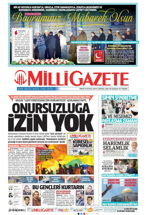 MİLLİ GAZETE - 25 Haziran 2017