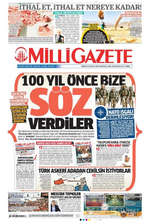 MİLLİ GAZETE - 30 Haziran 2017