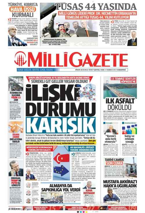 MİLLİ GAZETE - 01 Temmuz 2017