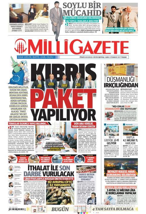 MİLLİ GAZETE - 02 Temmuz 2017