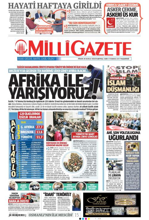 MİLLİ GAZETE - 03 Temmuz 2017