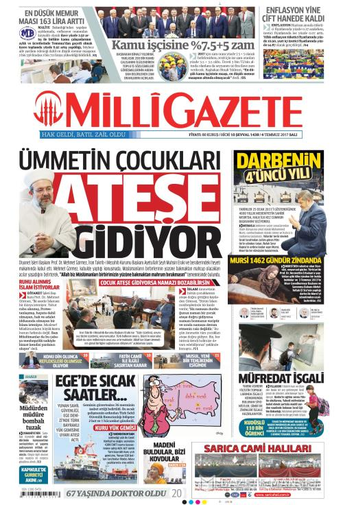 MİLLİ GAZETE - 04 Temmuz 2017