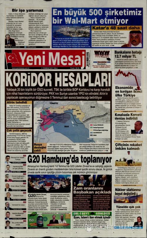 YENİ MESAJ - 04 Temmuz 2017