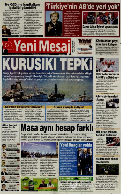 YENİ MESAJ - 05 Temmuz 2017