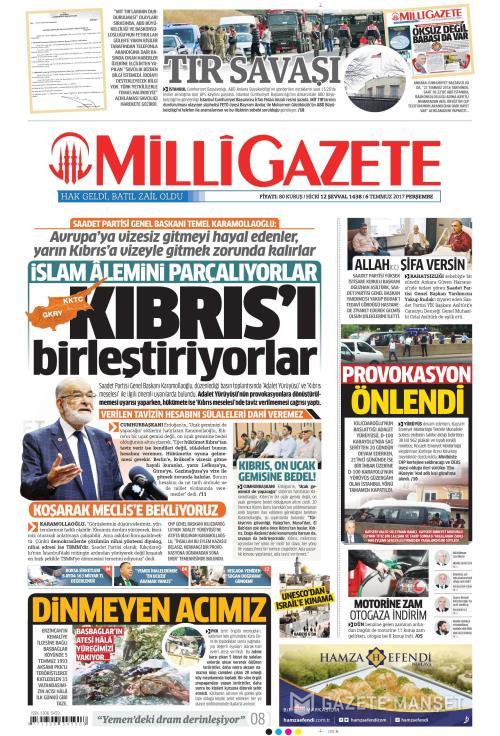 MİLLİ GAZETE - 06 Temmuz 2017