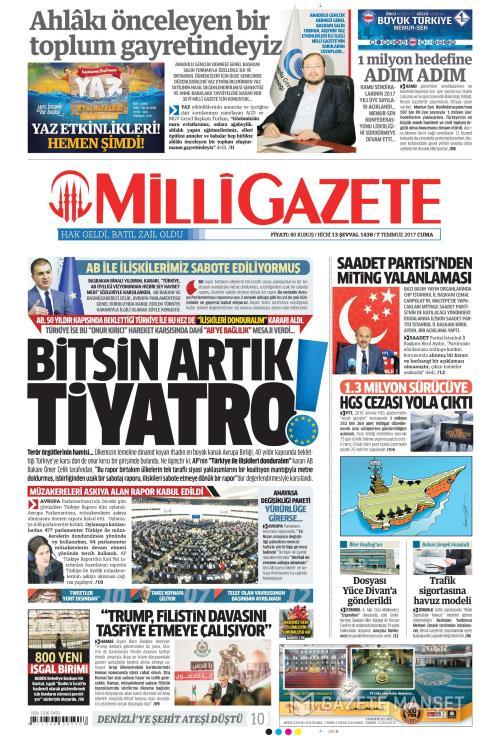 MİLLİ GAZETE - 07 Temmuz 2017
