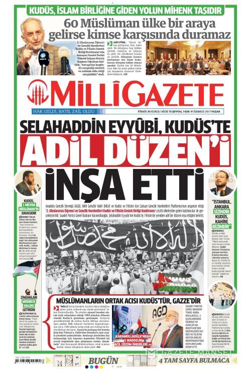MİLLİ GAZETE - 09 Temmuz 2017