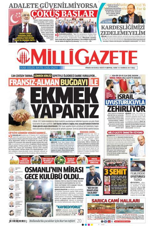 MİLLİ GAZETE - 11 Temmuz 2017