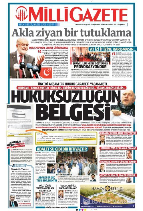 MİLLİ GAZETE - 13 Temmuz 2017
