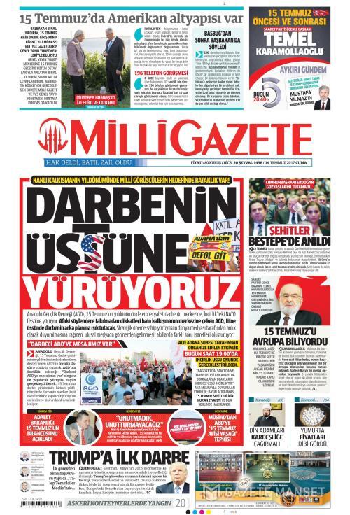 MİLLİ GAZETE - 14 Temmuz 2017
