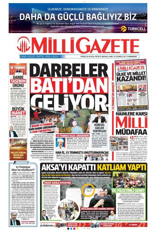 MİLLİ GAZETE - 15 Temmuz 2017