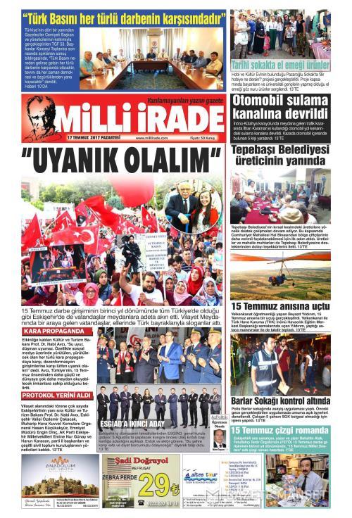 MİLLİ GAZETE - 17 Temmuz 2017