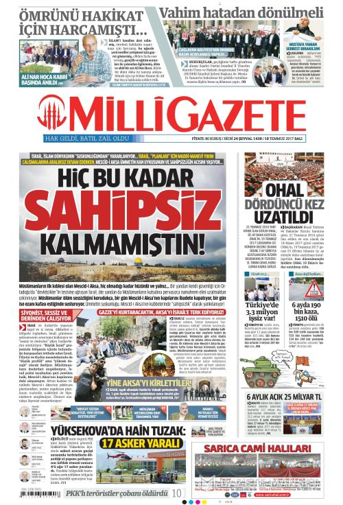 MİLLİ GAZETE - 18 Temmuz 2017