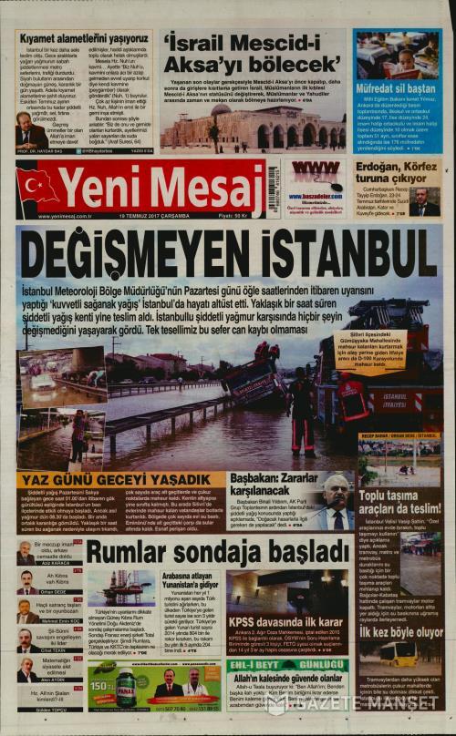 YENİ MESAJ - 19 Temmuz 2017