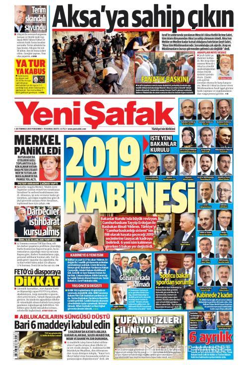 YENİ ŞAFAK - 20 Temmuz 2017