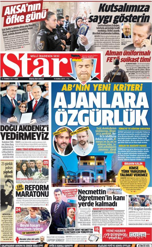 STAR - 21 Temmuz 2017