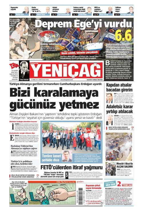 Türkiye'de Yeni Çağ - 22 Temmuz 2017