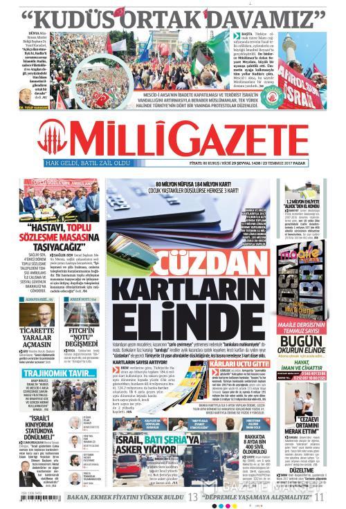 MİLLİ GAZETE - 23 Temmuz 2017