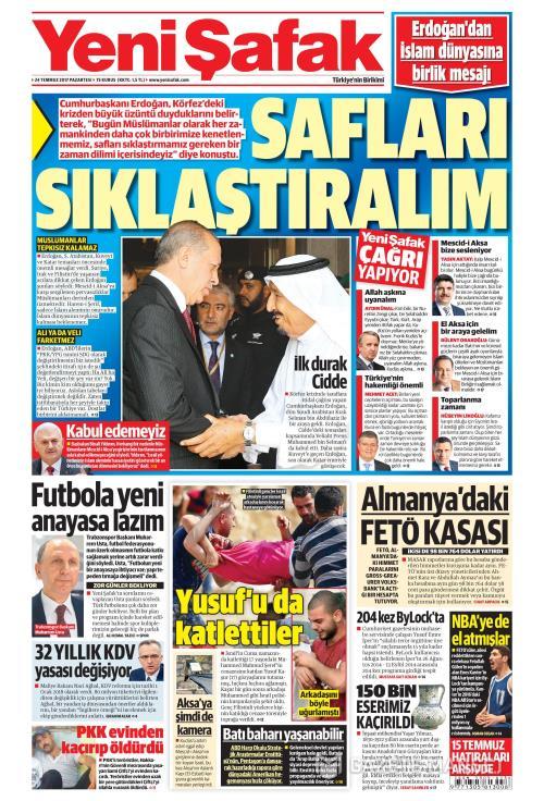 YENİ ŞAFAK - 24 Temmuz 2017
