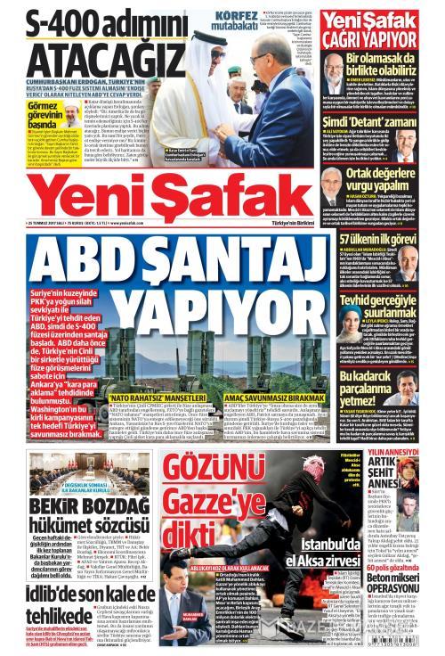 YENİ ŞAFAK - 25 Temmuz 2017