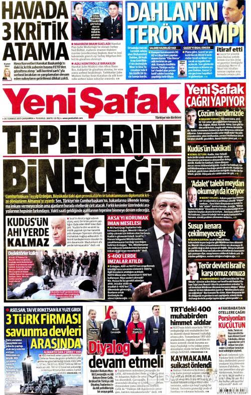 YENİ ŞAFAK - 26 Temmuz 2017