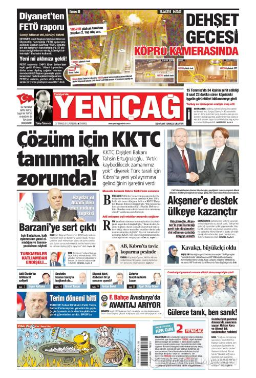 Türkiye'de Yeni Çağ - 27 Temmuz 2017