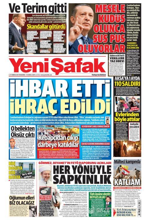 YENİ ŞAFAK - 27 Temmuz 2017