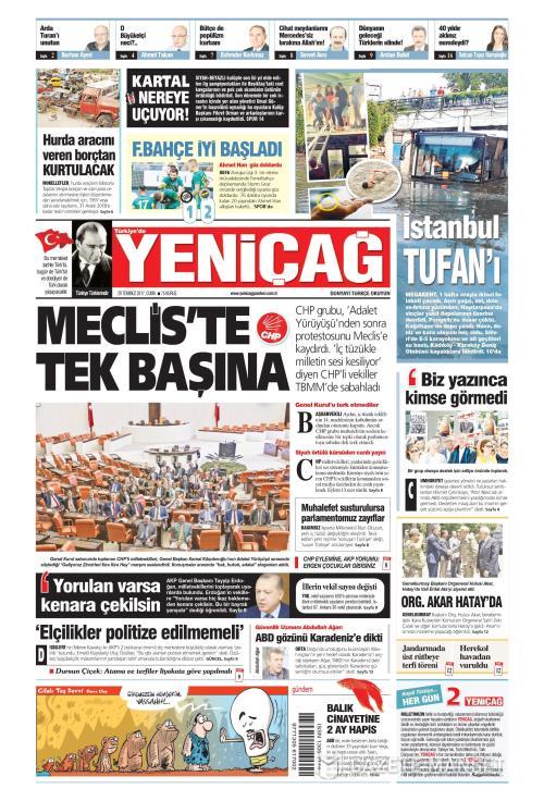 Türkiye'de Yeni Çağ - 28 Temmuz 2017