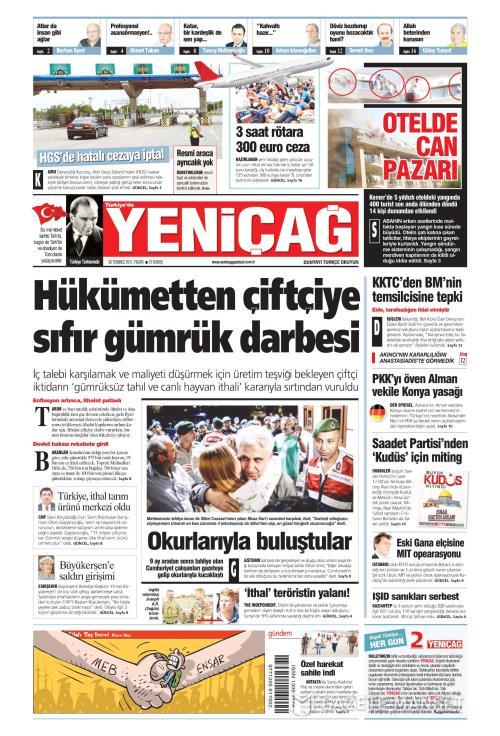 Türkiye'de Yeni Çağ - 30 Temmuz 2017
