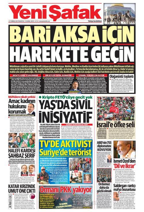 YENİ ŞAFAK - 31 Temmuz 2017