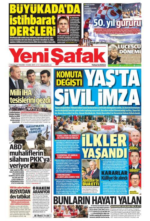 YENİ ŞAFAK - 03 Ağustos 2017