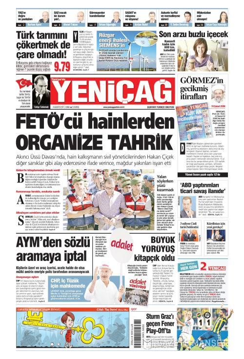 Türkiye'de Yeni Çağ - 04 Ağustos 2017