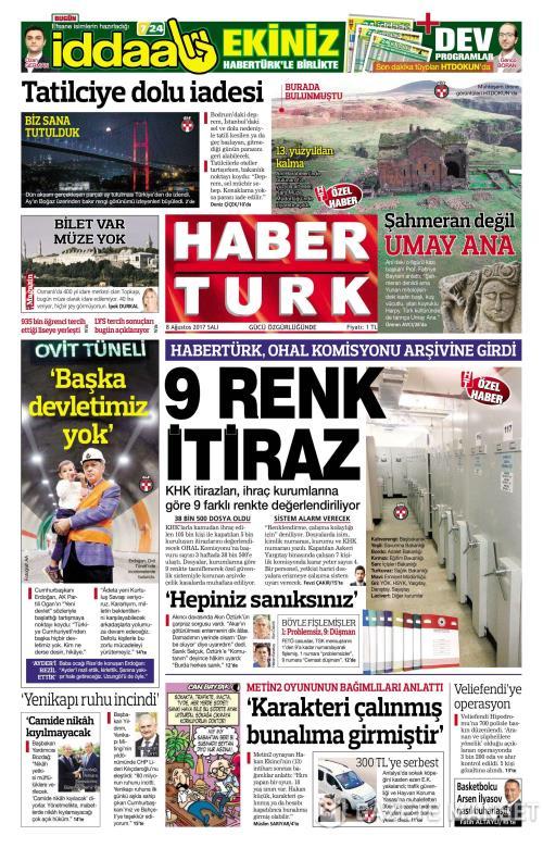 HABERTÜRK - 08 Ağustos 2017