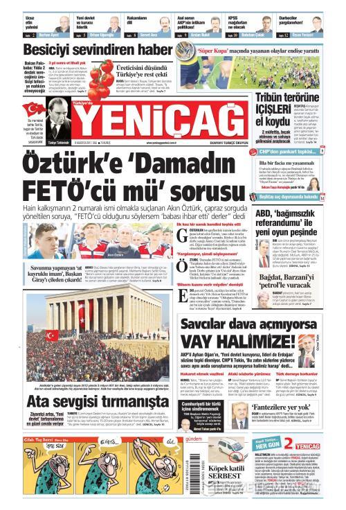 Türkiye'de Yeni Çağ - 08 Ağustos 2017