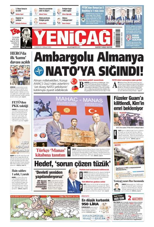 Türkiye'de Yeni Çağ - 11 Ağustos 2017
