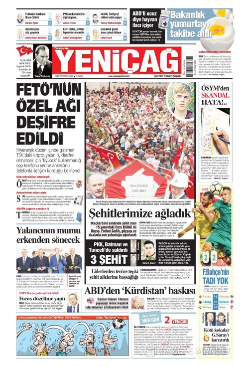 Türkiye'de Yeni Çağ - 13 Ağustos 2017