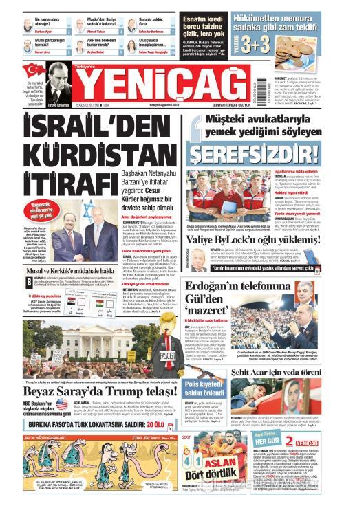 Türkiye'de Yeni Çağ - 15 Ağustos 2017