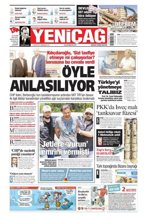 Türkiye'de Yeni Çağ - 17 Ağustos 2017