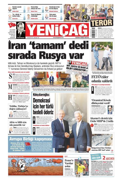 Türkiye'de Yeni Çağ - 18 Ağustos 2017
