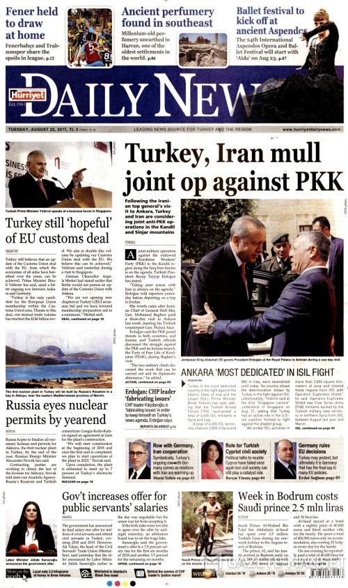 HÜRRİYET DAİLY NEWS - 22 Ağustos 2017