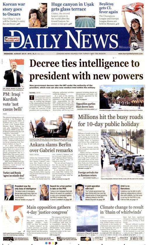 HÜRRİYET DAİLY NEWS - 26 Ağustos 2017