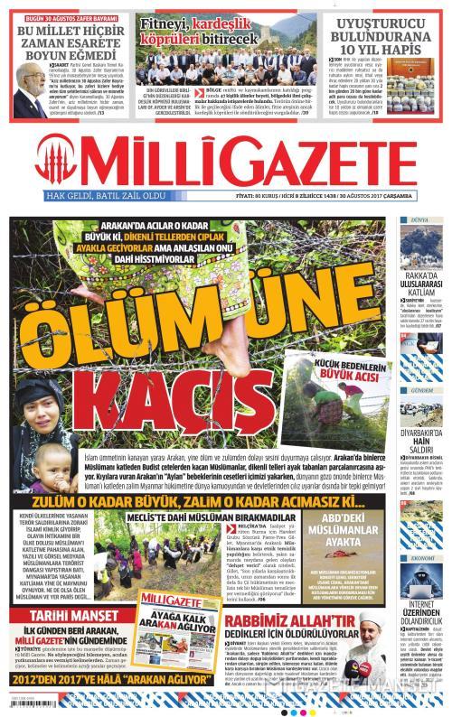 MİLLİ GAZETE - 30 Ağustos 2017