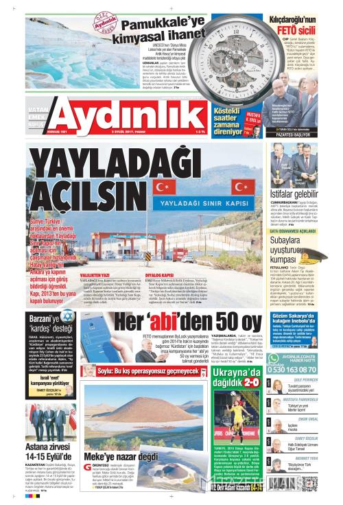AYDINLIK - 03 Eylül 2017