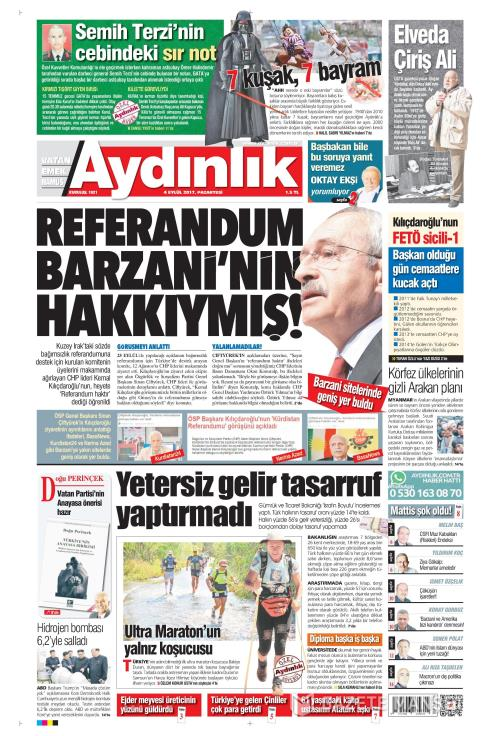 AYDINLIK - 04 Eylül 2017