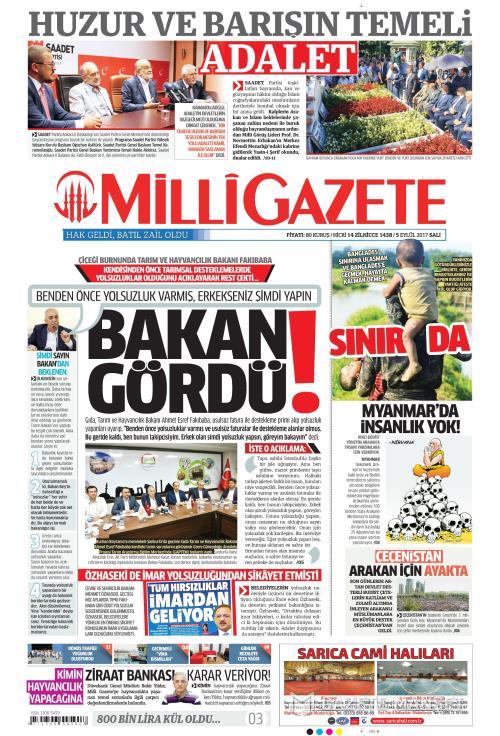 MİLLİ GAZETE - 05 Eylül 2017