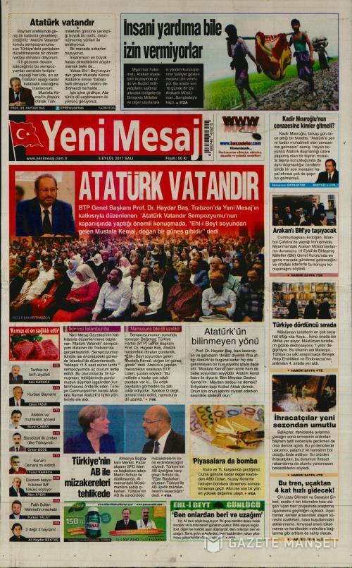 YENİ MESAJ - 05 Eylül 2017