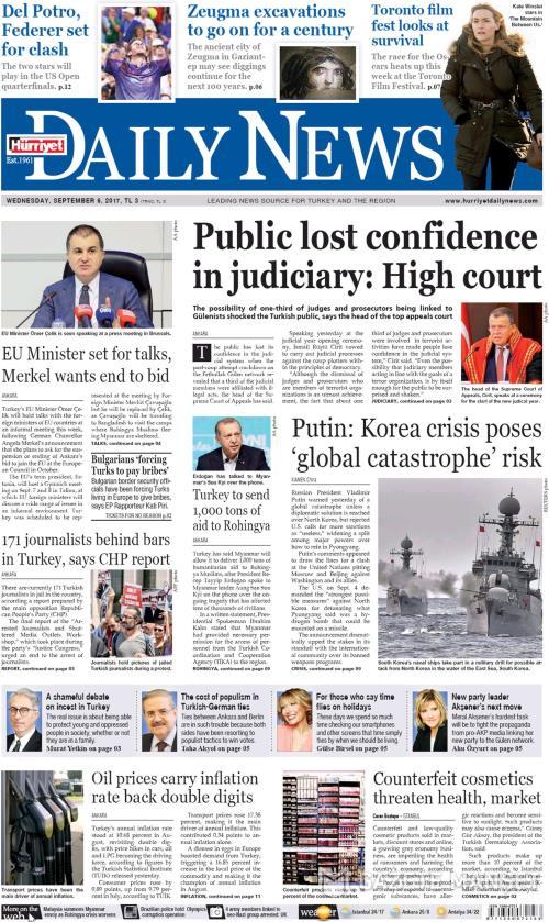 HÜRRİYET DAİLY NEWS - 06 Eylül 2017
