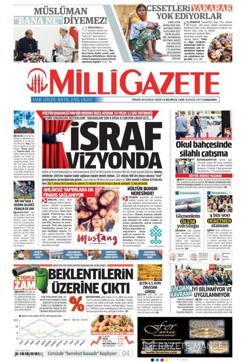 MİLLİ GAZETE - 06 Eylül 2017
