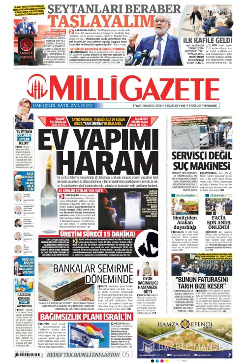 MİLLİ GAZETE - 07 Eylül 2017