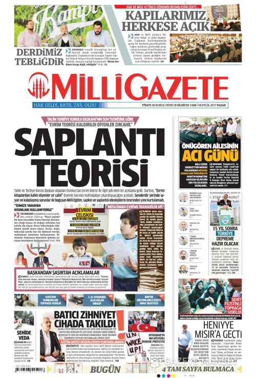 MİLLİ GAZETE - 10 Eylül 2017